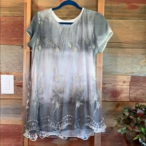 Simply couture size XL double layered top